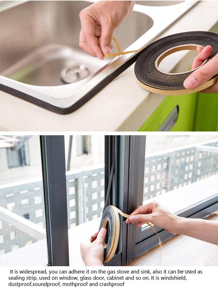 Gas Stove Cooker Slit Antifouling Strip Sealing Tape Sealing Strip Kitchen Tool