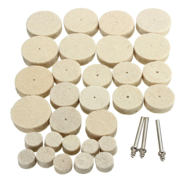 33pcs Wool Polishing Wheel
