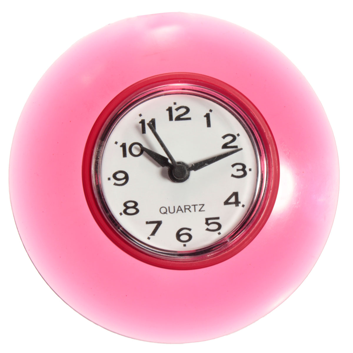 Bathroom Kitchen Waterproof Wall Clock Resistant Timer Suction Cup