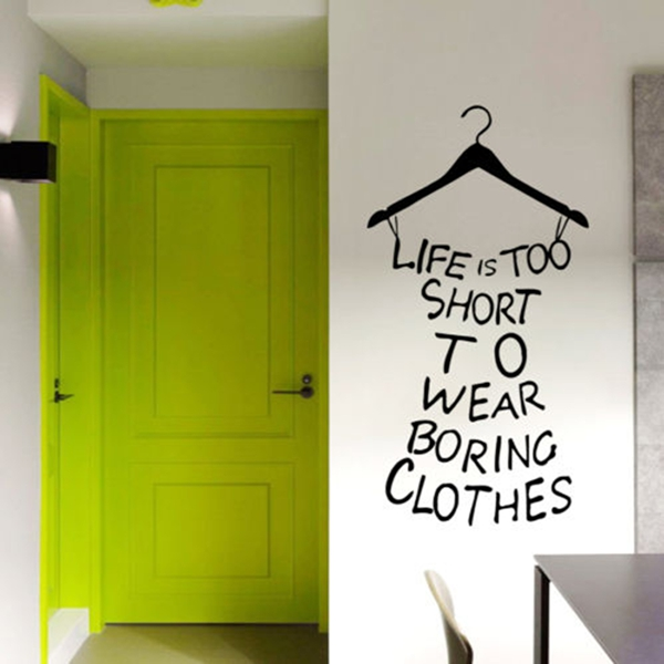DIY Art Mural Quote Removable Wall Background Wallpaper Wearing Sticker
