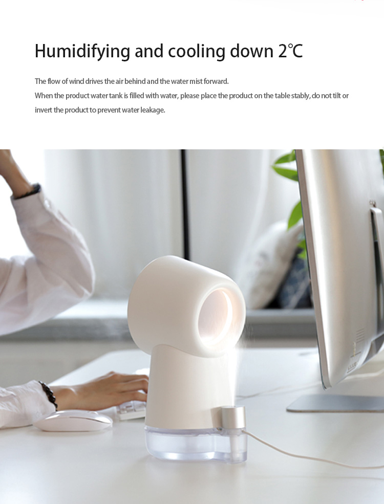 2021 Home Usb Desktop Air Cooler Fan Leafless Fan Portable Mini Table Rechargeable Air Cooling Bladeless Fan
